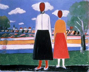 Dos figuras en un paisaje