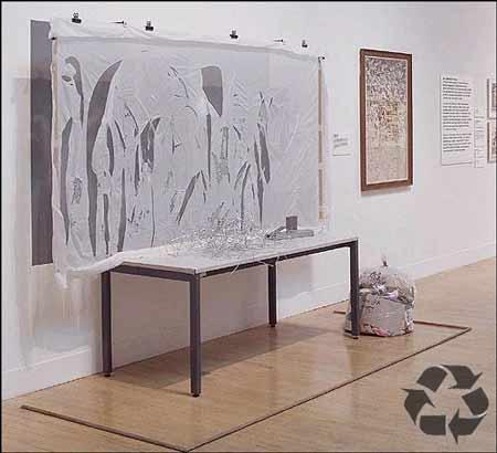 Arte en la basura